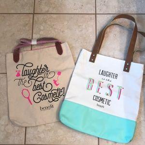 2 Benefit tote bags. NWOT